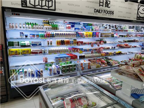 上海市市辖区嘉定区超市冷柜-风幕柜案例