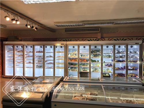 牙买加蒙特哥贝市定做超市展示冷柜-卧式组合岛柜工程案例