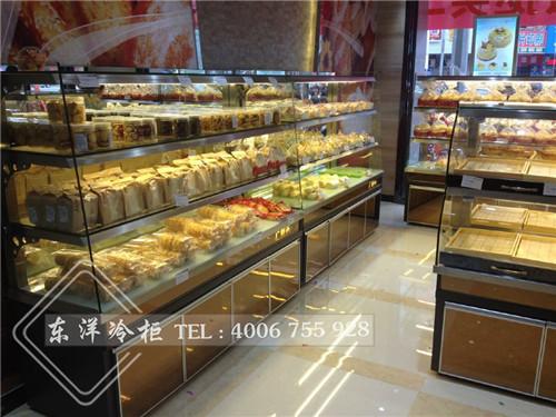 深圳大润发超市蛋糕面包展示柜工程案例