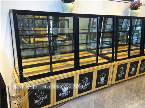 深圳南方科技大学面包边岛柜-三层边岛柜-单弧蛋糕柜-面包中岛柜-叉盘柜-保鲜冷库工程案例