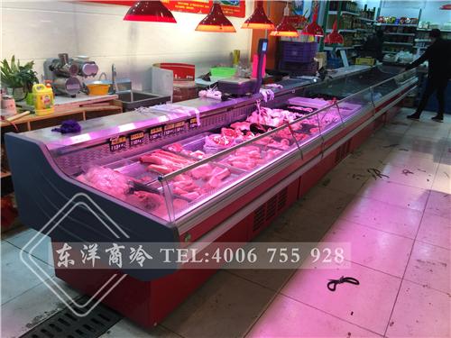 江苏苏州万家福生鲜超市鲜肉冷柜-卧式冷柜工程案例
