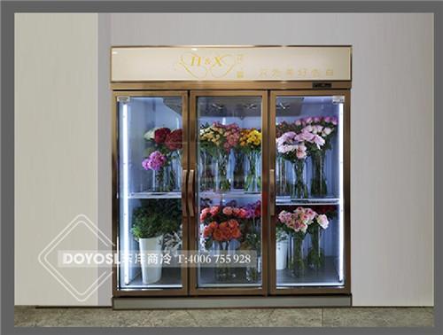 广州花宣鲜花展示柜案例