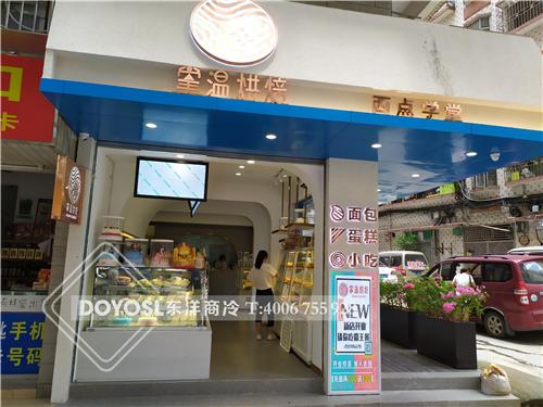 深圳市龙岗区掌温烘焙边岛柜-盘叉柜-蛋糕柜-水果柜案例