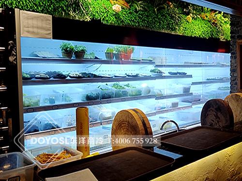 江苏省无锡市海岸城蟸江龙鱼头火锅食材彩神Ⅴll下载-蔬菜展示柜案例
