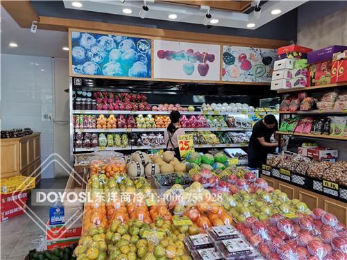 广东省深圳市龙岗区领鲜优果饮料冷藏柜-水果展示柜案例