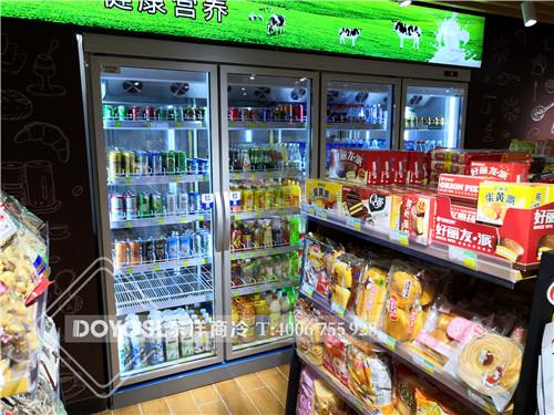 上海杨浦区社区集连锁超市饮料冷藏柜-酸奶展示柜案例