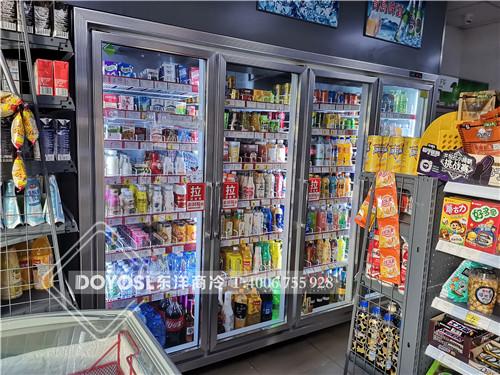 广东省深圳市龙华新区京东便利店饮料饮料展示柜-饮料冷藏柜案例