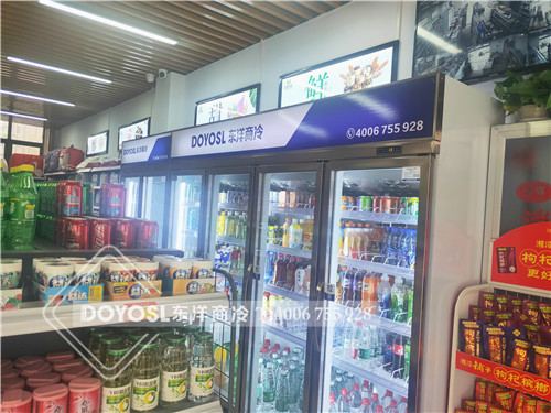 武汉市江夏区芙蓉兴盛便利超市饮料冷藏柜-饮料展示柜案例