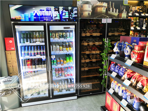 上海市浦东新区捷强烟酒专卖连锁店啤酒冷藏柜-饮料展示柜案例