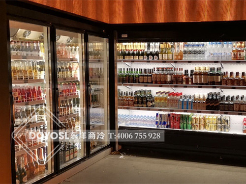 广东省深圳市福田区MOJO酒吧酒水冷藏柜-饮料展示柜案例