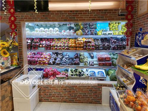 广东省深圳市龙岗区布吉连锁水果超市-风幕柜案例