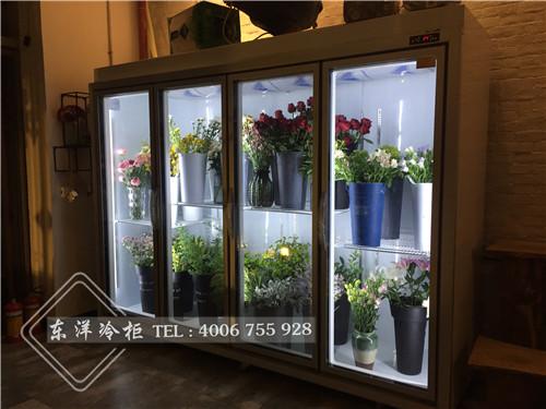 广州誉夕花舍四门鲜花展示柜工程案例