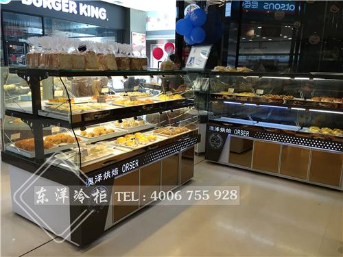 深圳澳泽烘焙面包展示柜/蛋糕冷藏柜工程案例