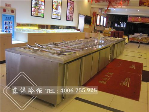深圳自助餐保鲜展示柜工程案例