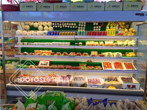 广州市增城区奇果鲜生水果店冷藏柜-水果风幕柜案例